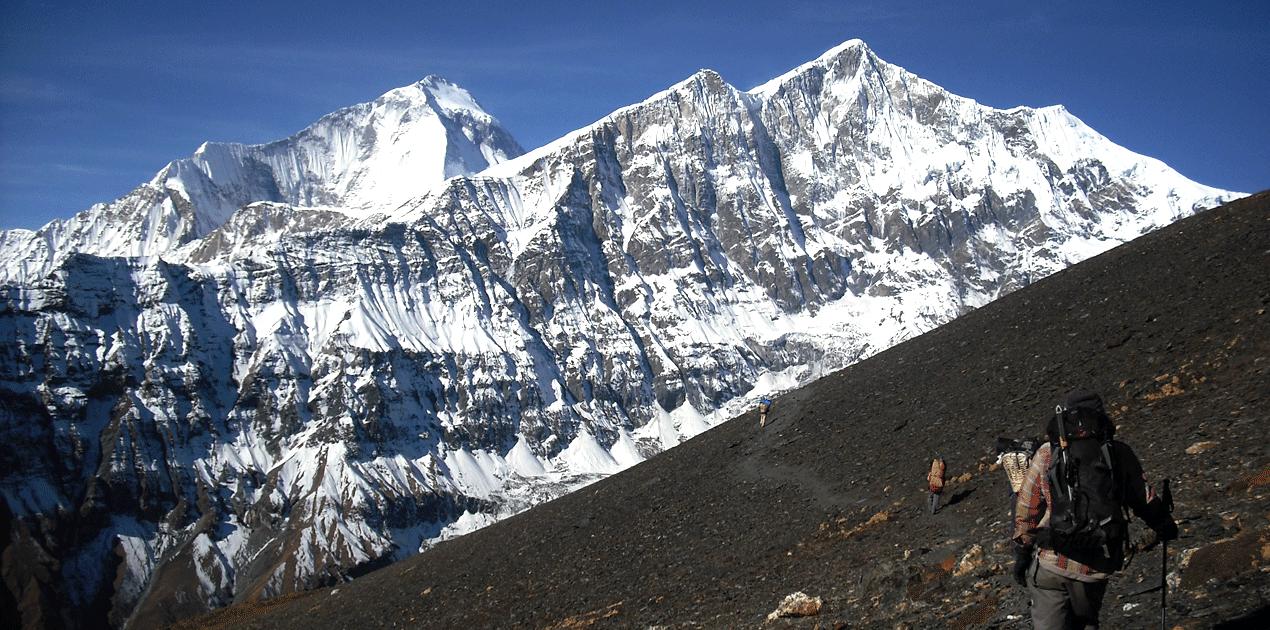 yak kharka to dhampush peak base camp
