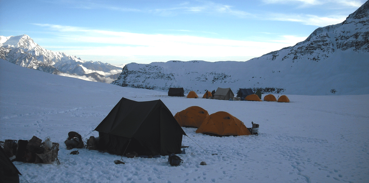 dhampus peak base camp