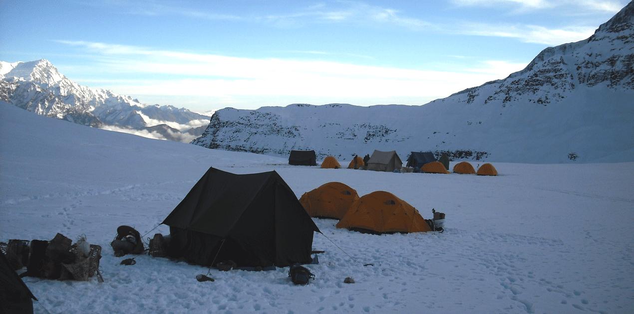 dhampus peak base camp