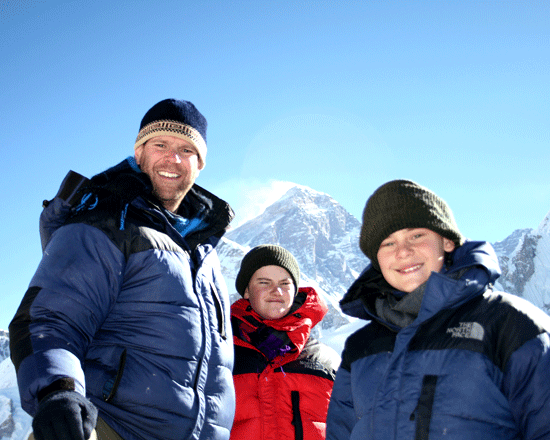 kids visited Everest Base Camp