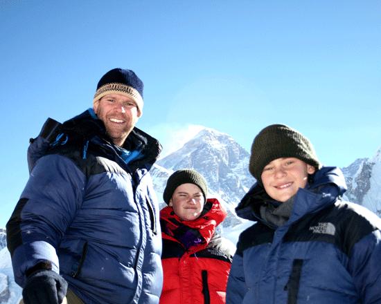kids visited Everest Base Camp
