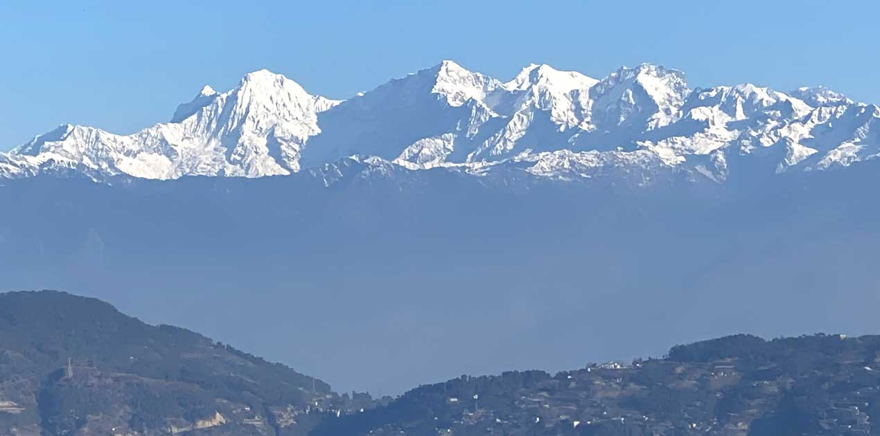 Ganesh himal view from Nagarjun