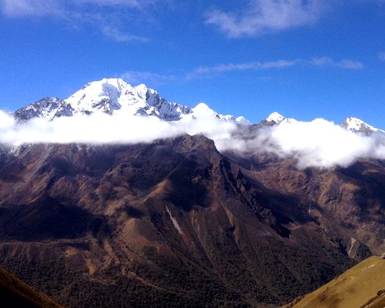 Langtang ri mountain view from Kyanjing gompa