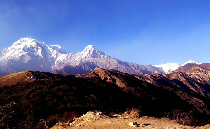 Annapurnsa South view from Mardi Himal base camp