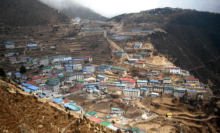 Namche Bazaar sherpa village