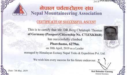 pharchamo summit certificate