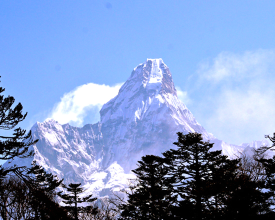 Everest View from Namche Bazaar
