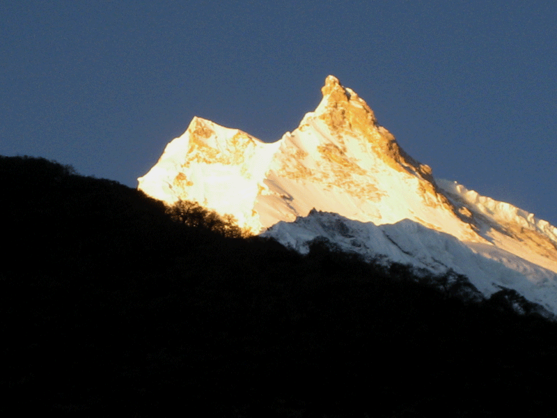 Manaslu sunset view