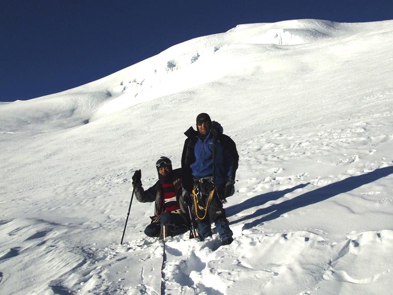 Mera Peak Near top
