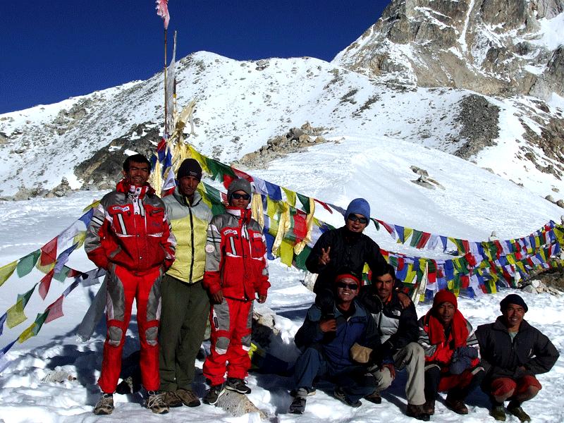 Top of Larkye pass