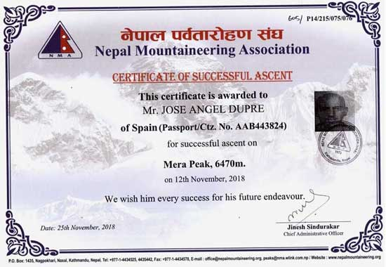 peak summit certificate