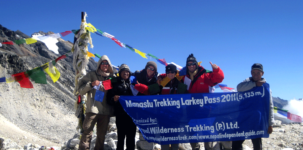 Manaslu Trekking Guide from the same area who speaks fluent English
