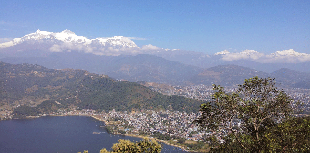 Pokhara City with mountain Views