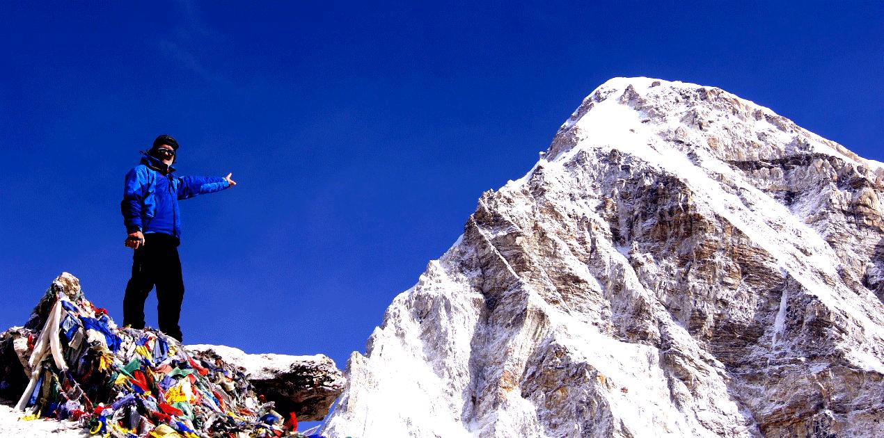 Mount Pumari close to Kala Patthar