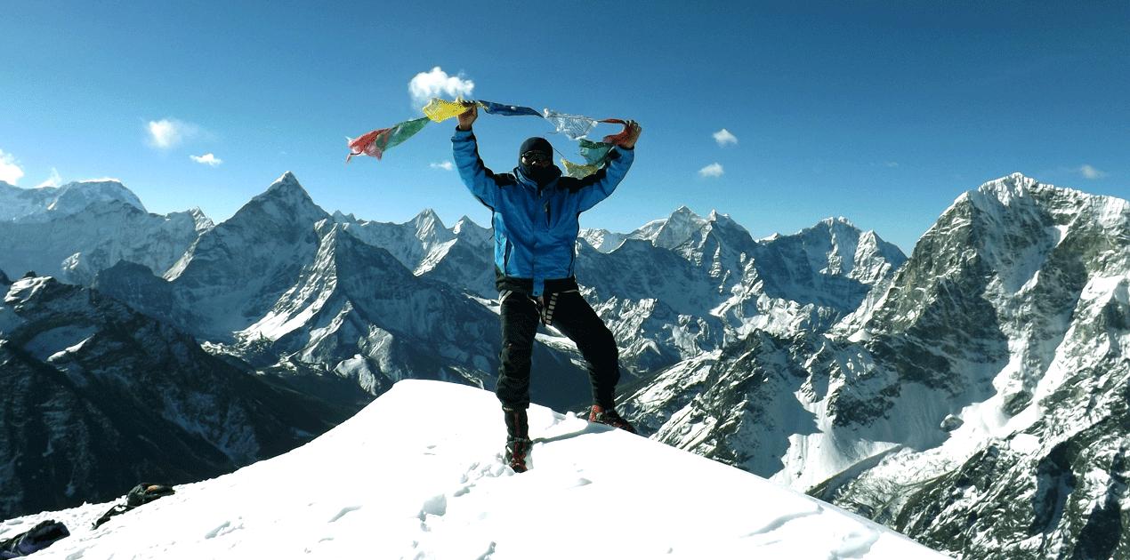 Lobuche peak Climbing arranges from Dingboche