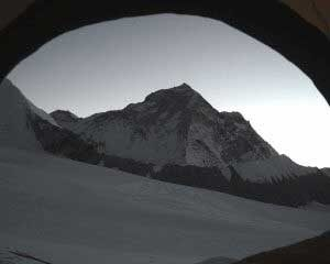 Makalu views from tent