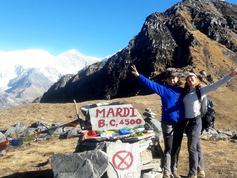 Mardi Himal Base Camp 4500m
