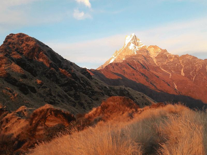 Mardi Himal Base Camp sunset view