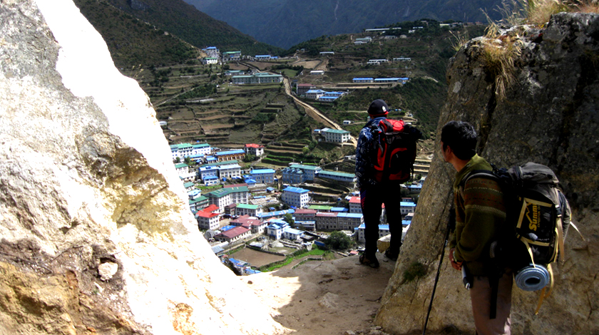 Namche bazaar beautiful town