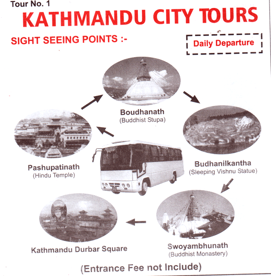 Sharing-bus-Kathmandu-city tours