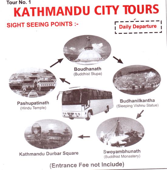Sharing-bus-Kathmandu-city tours