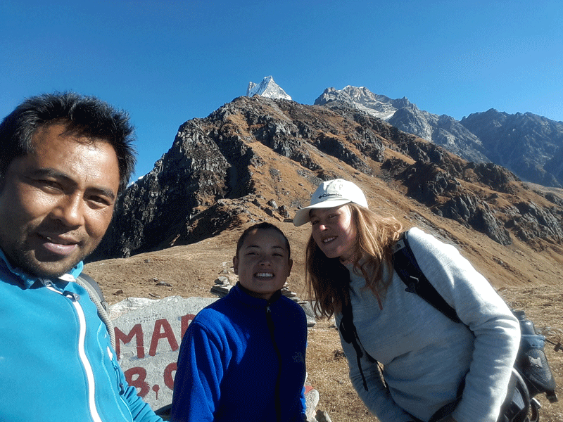 balcony view from Mardi himal base camp
