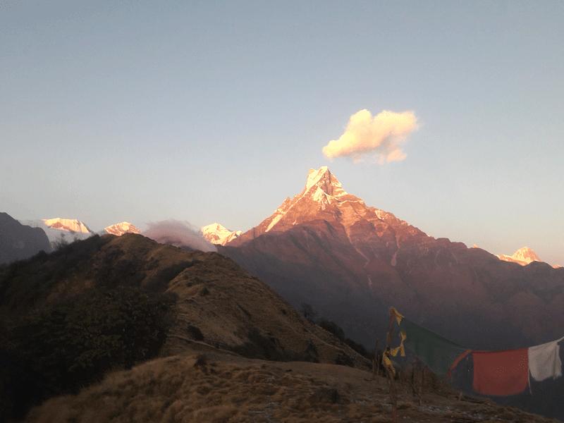 best view  Mardi himal base camp