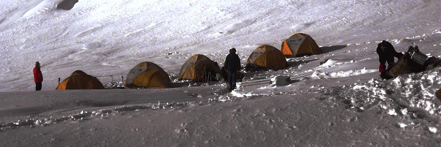 high pass camping trek