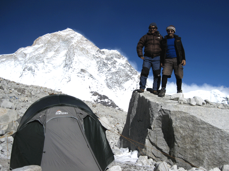Makalu high camp