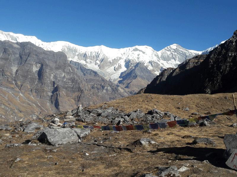 massif annapurna view from mardi himal