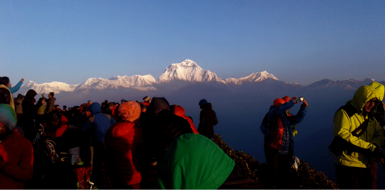 Dhaulagiri himal morning view