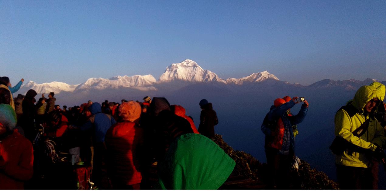 Dhaulagiri himal morning view