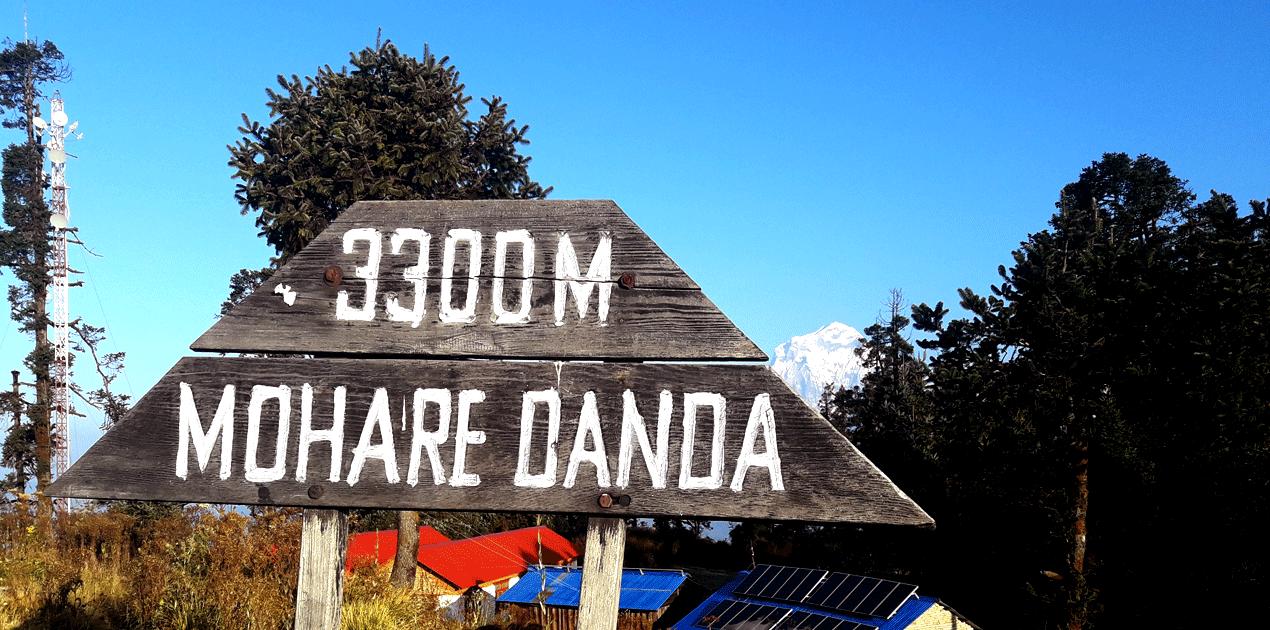 Mohare danda is 3300 m