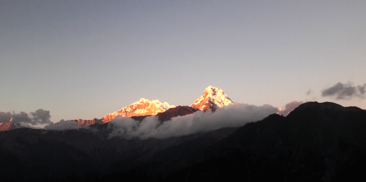 Annapurna South Mountain View from Poon Hill