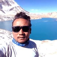 Suk Ghale in Tilicho lake