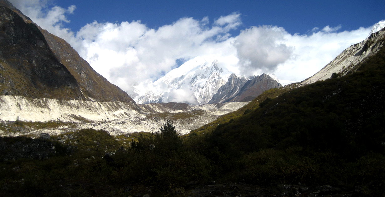 view from Binthang, nice valley