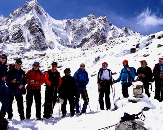 Everest base camp group photo