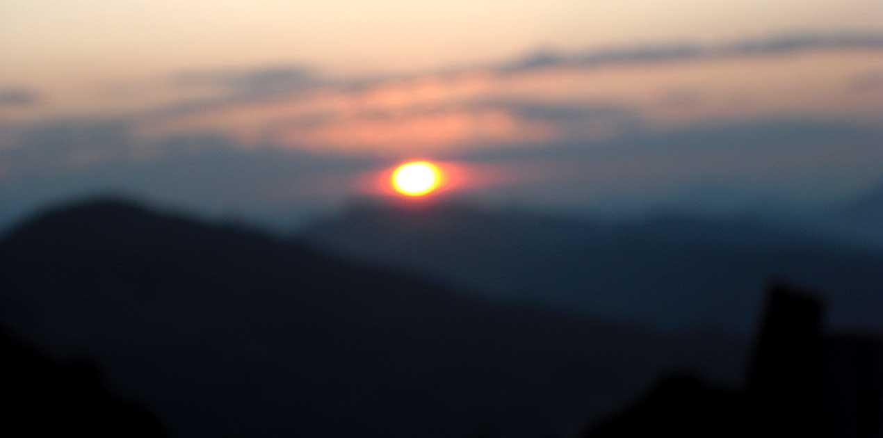 sunrise view from panchase trek