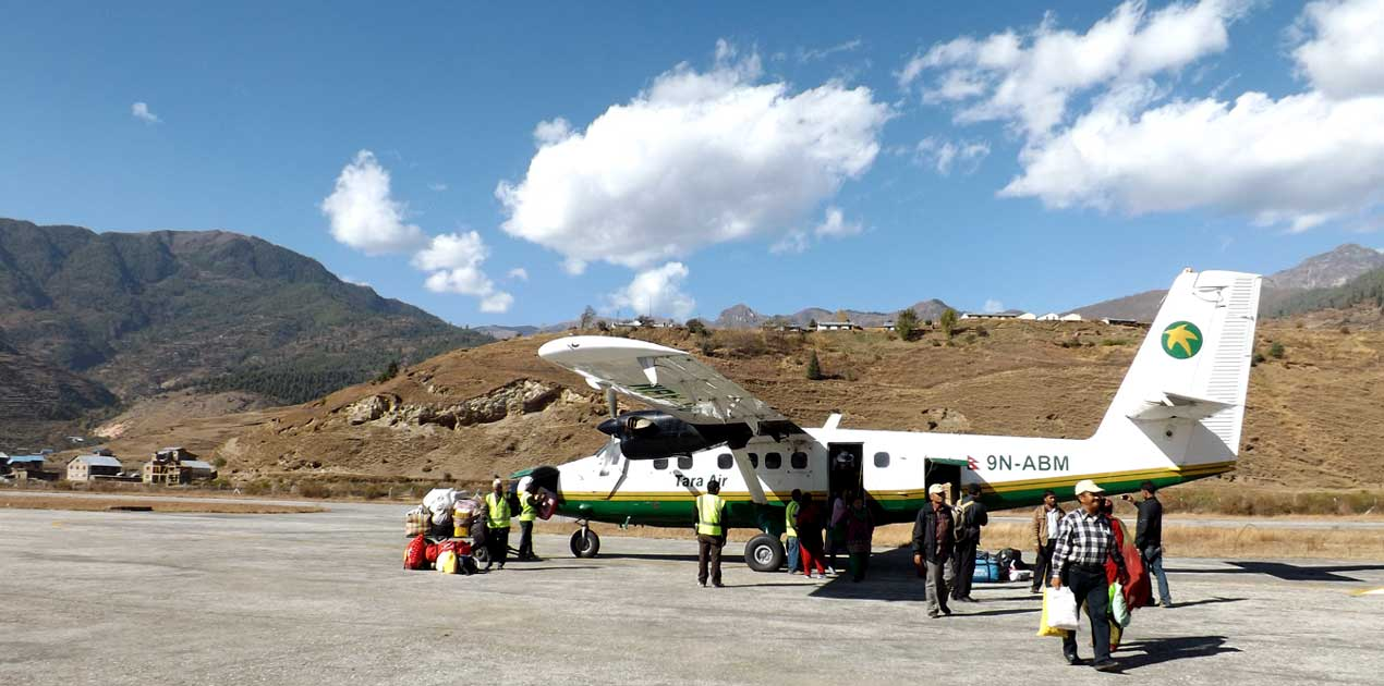 Tara air in Rara Talcha airport